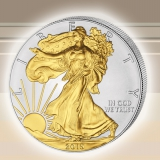 Silber American Eagle 1 oz - Gilded 2015